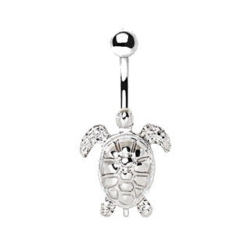 316L Stainless Steel Sea Turtle Navel Ring - Fashion Hut Jewelry