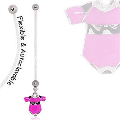 BioFlex Baby Onesie Pregnancy Navel Ring - Fashion Hut Jewelry