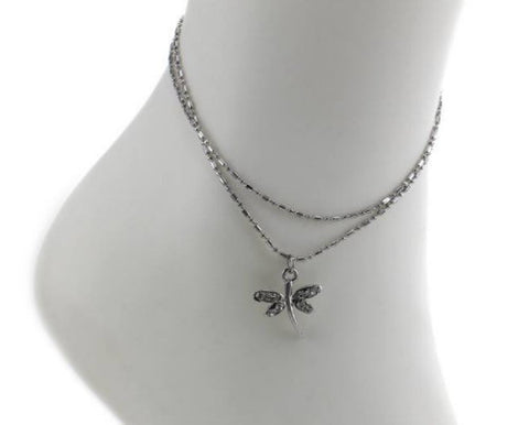 Dragonfly Charm Anklet - Fashion Hut Jewelry