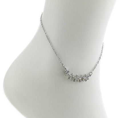 Multi 5 Star CZ Anklet - Fashion Hut Jewelry