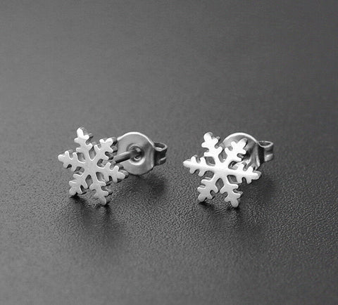 Fashion Snowflake Stud Earrings Christmas Earrings - Fashion Hut Jewelry