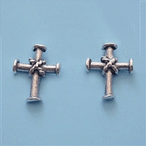 Sterling Silver Cross Earrings - Fashion Hut Jewelry