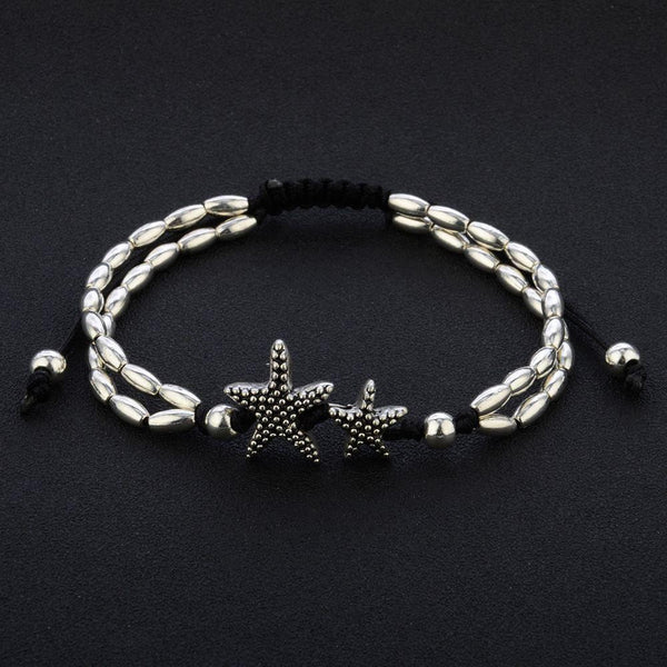Vintage Double Beaded Starfish Anklet - Fashion Hut Jewelry