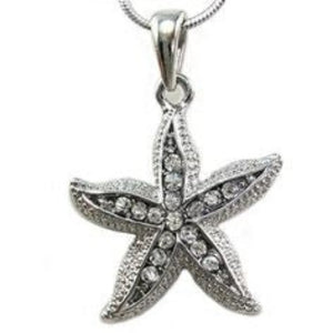 Crystal Starfish Necklace - Fashion Hut Jewelry