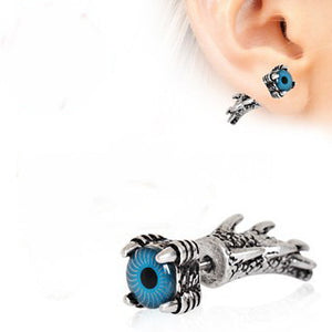 Gothic Dragon Claw Blue Evil Eye Fake Taper - Fashion Hut Jewelry