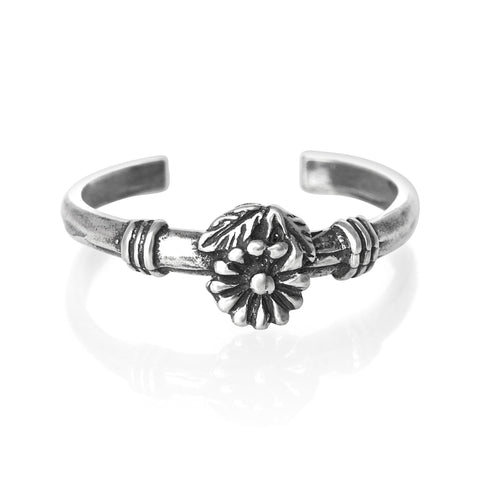 Flower Sterling Silver Toe Ring - Fashion Hut Jewelry