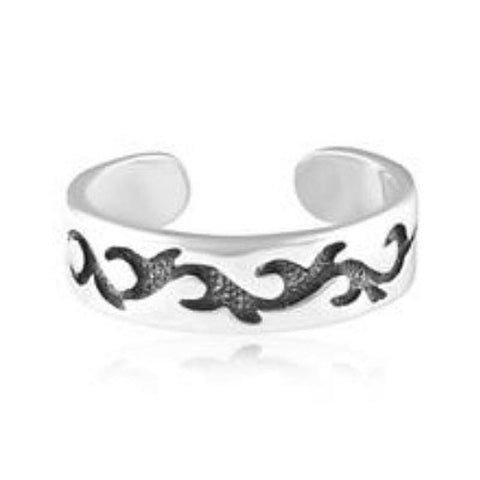 Adjustable Tribal Sterling Silver Toe Ring - Fashion Hut Jewelry