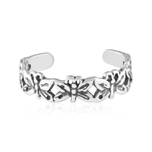 Butterflies Sterling Silver Toe Ring - Fashion Hut Jewelry