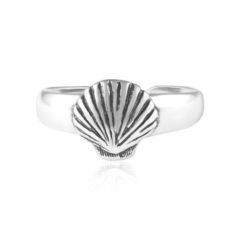 Seashell Sterling Silver Toe Ring - Fashion Hut Jewelry