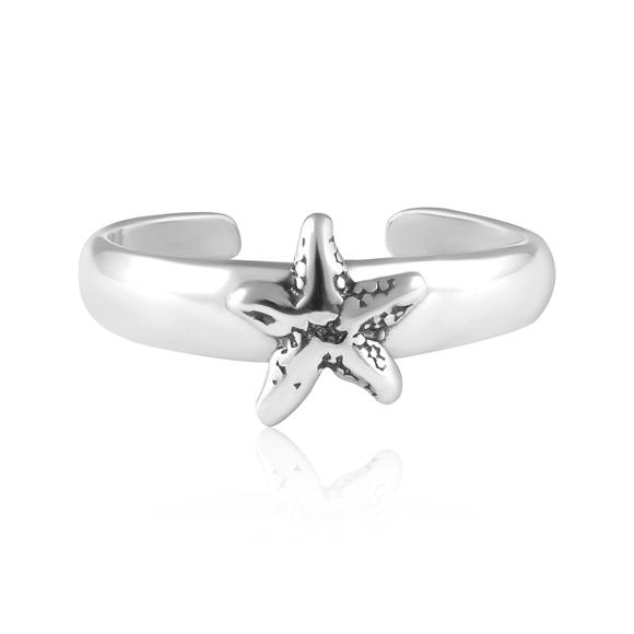 Starfish Sterling Silver Toe Ring - Fashion Hut Jewelry