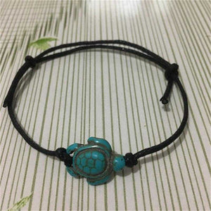 Carved Boho Turquoise Turtle Anklet Ankle Bracelet - Fashion Hut Jewelry