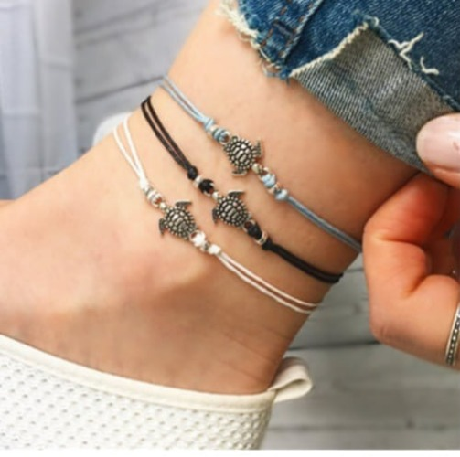 Bohemian Turtle Anklet Ankle Bracelet - Fashion Hut Jewelry