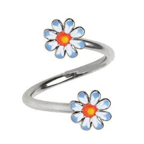 316L Stainless Steel Daisy Flower Twist Jewelry - Fashion Hut Jewelry