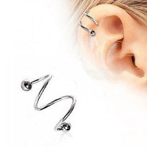 316L Surgical Steel Double Coil Twist - Fashion Hut Jewelry