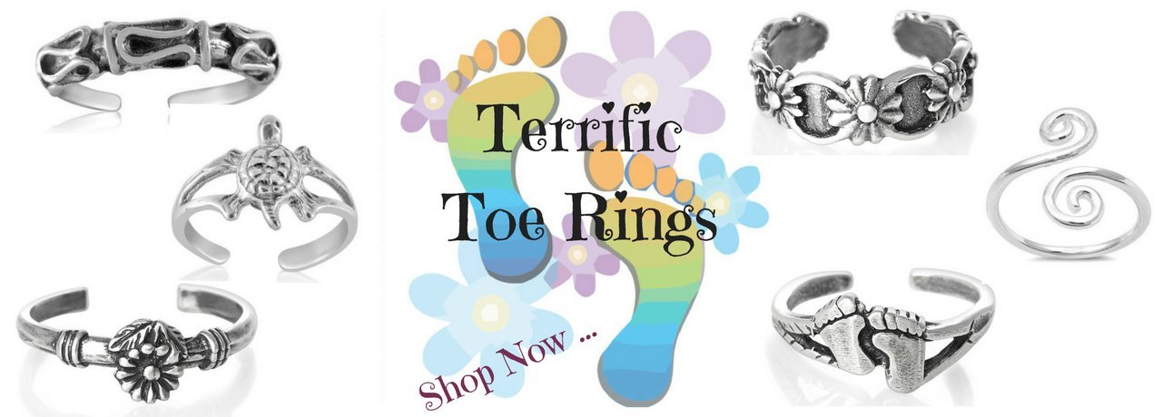 Toe Rings - Sterling Silver Toe Rings - Adjustable Toe Ring - Fashion Hut Jewelry