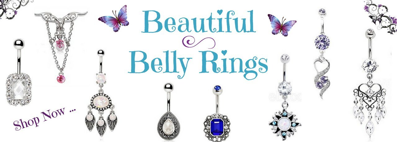 Beautiful Belly Rings ~ Navel Ring Piercings ~ Fashion Hut Jewelry