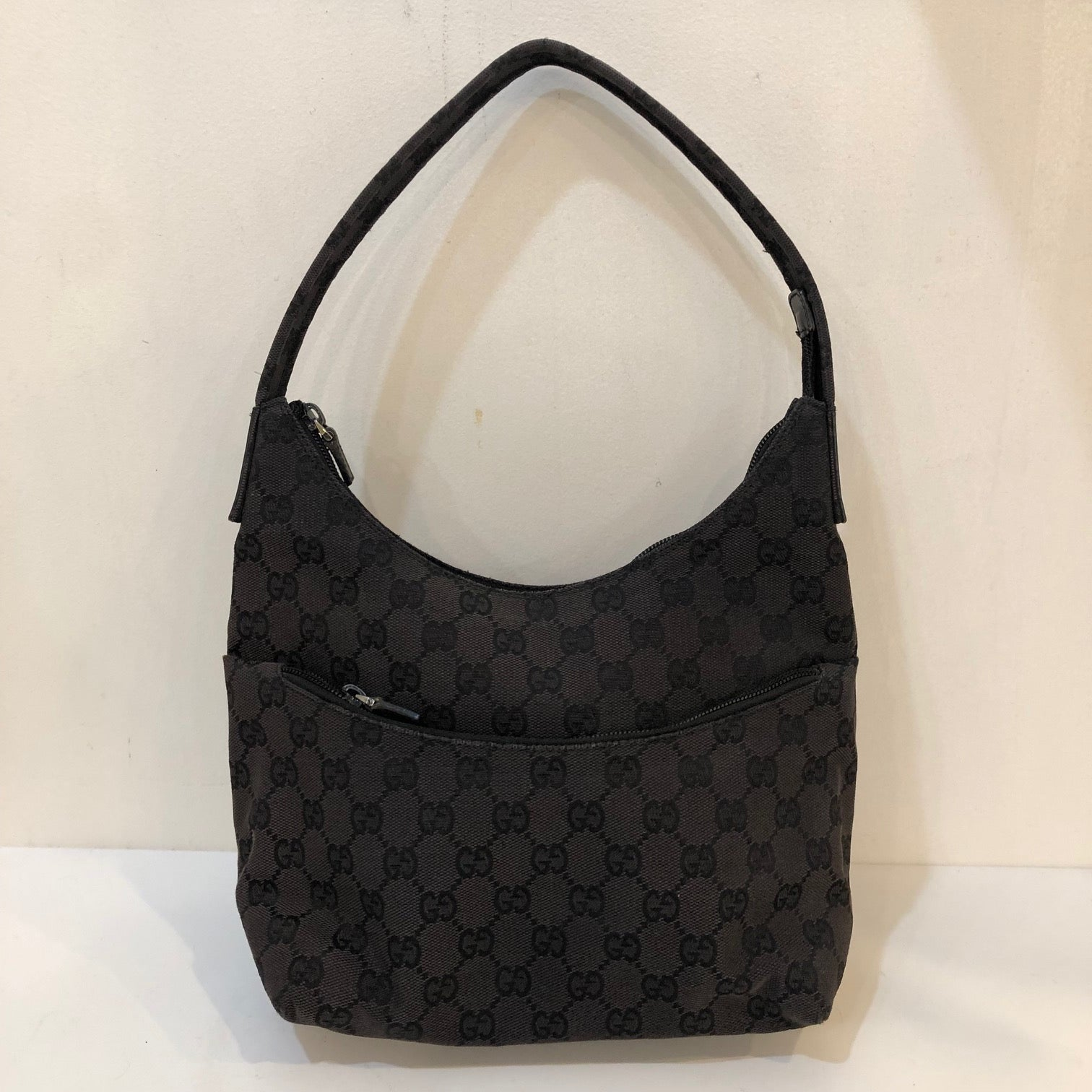 Gucci Black Canvas Shoulder Bag