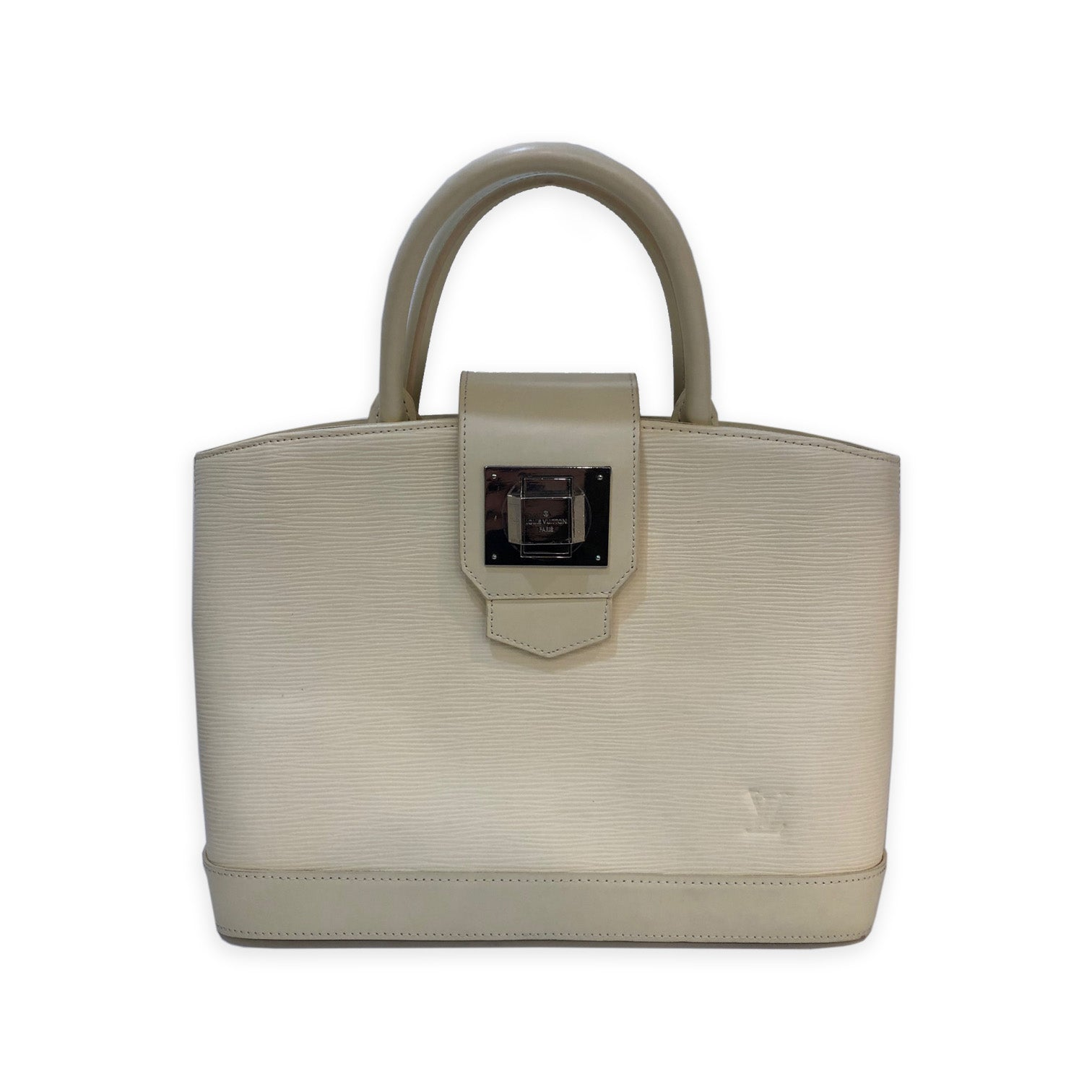 Louis Vuitton White Epi Leather Top Handle Bag