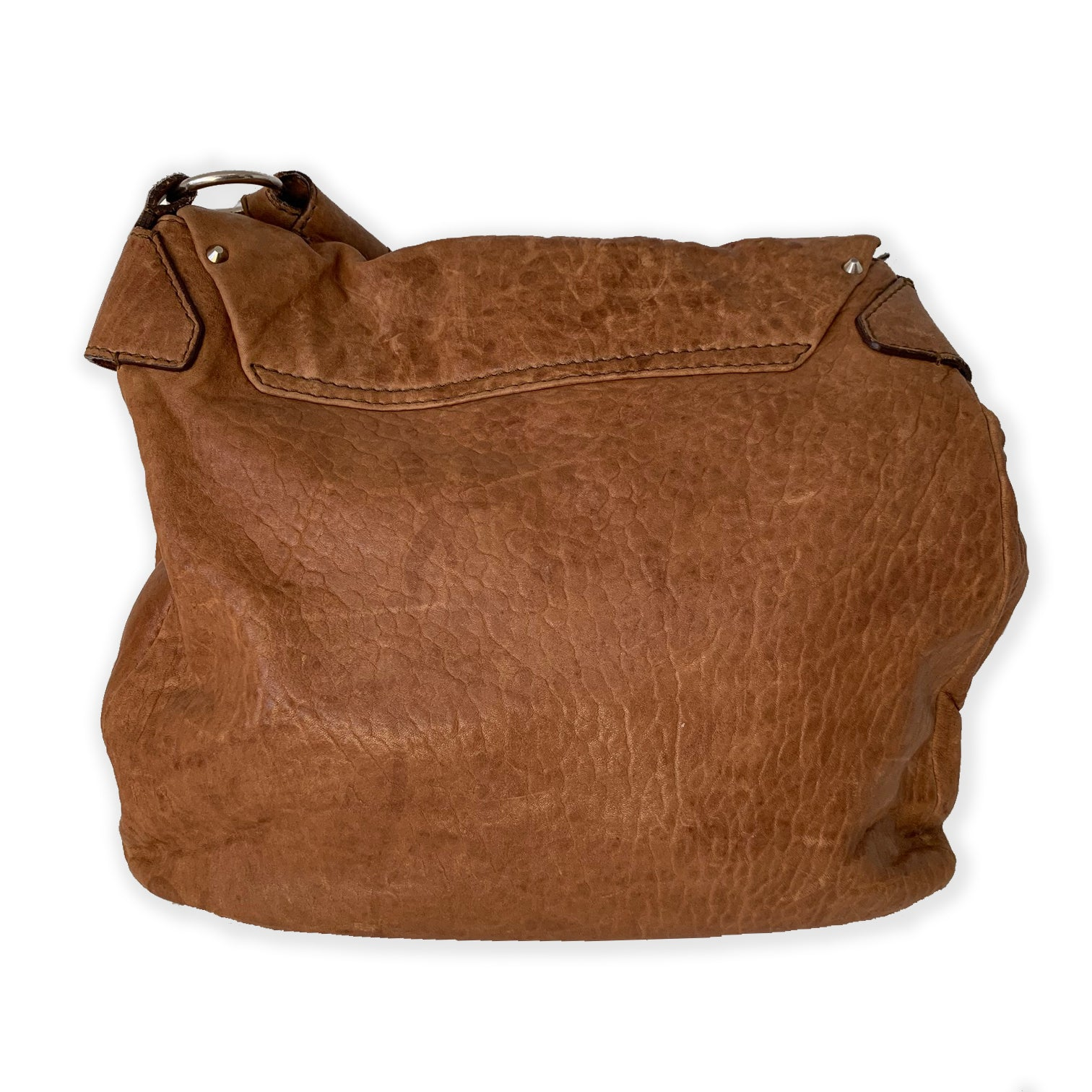 Givenchy Brown Leather Fold Over Shoulder Bag