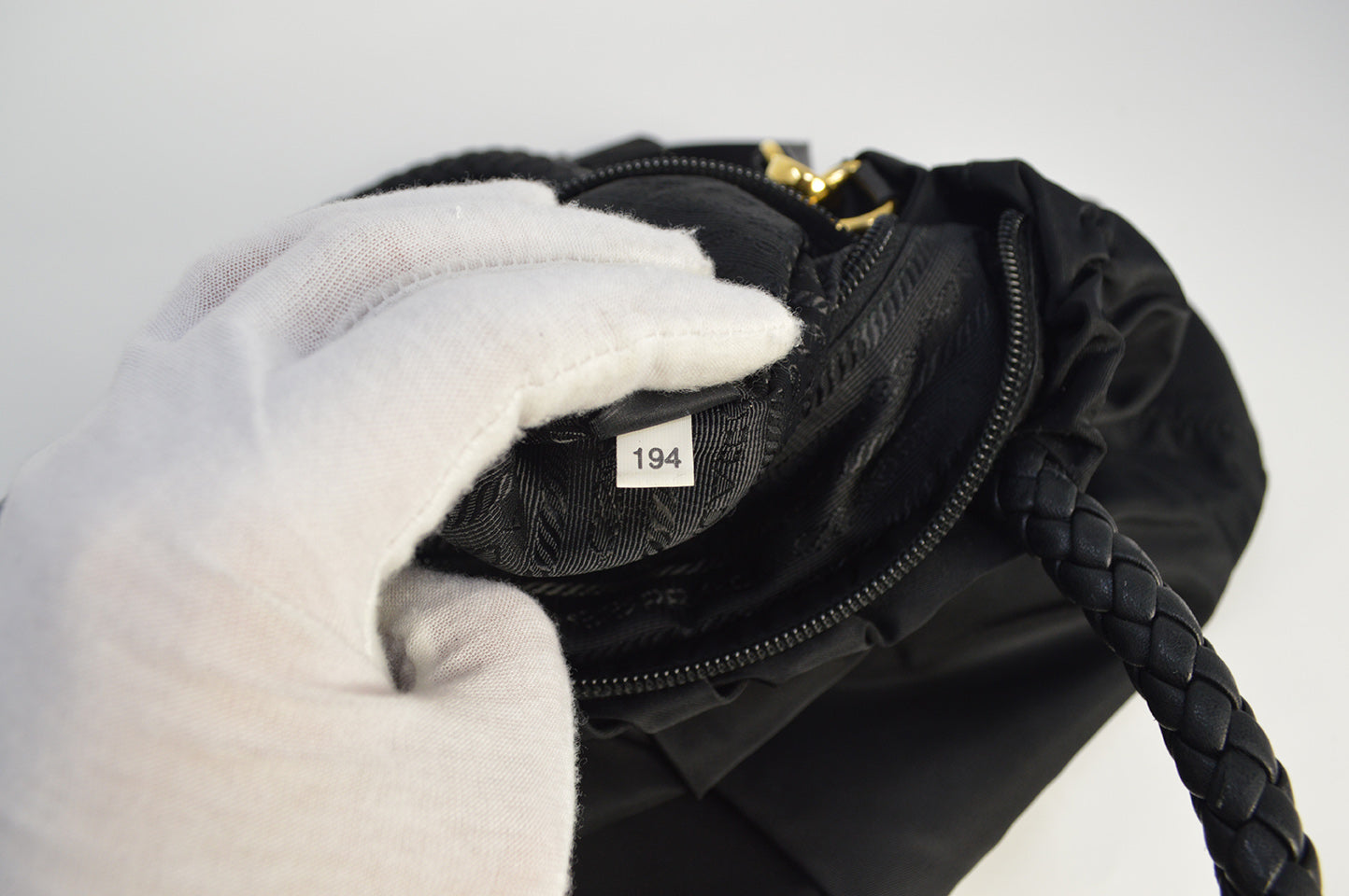 Prada Black Nylon 2 Way Bag