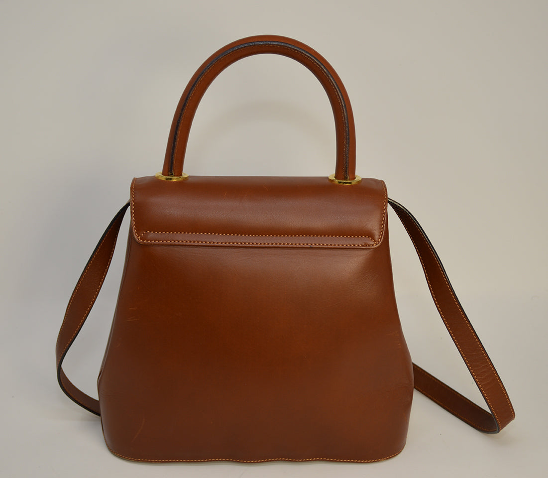 Cartier Brown w/ Gold Stud 2 Way Bag