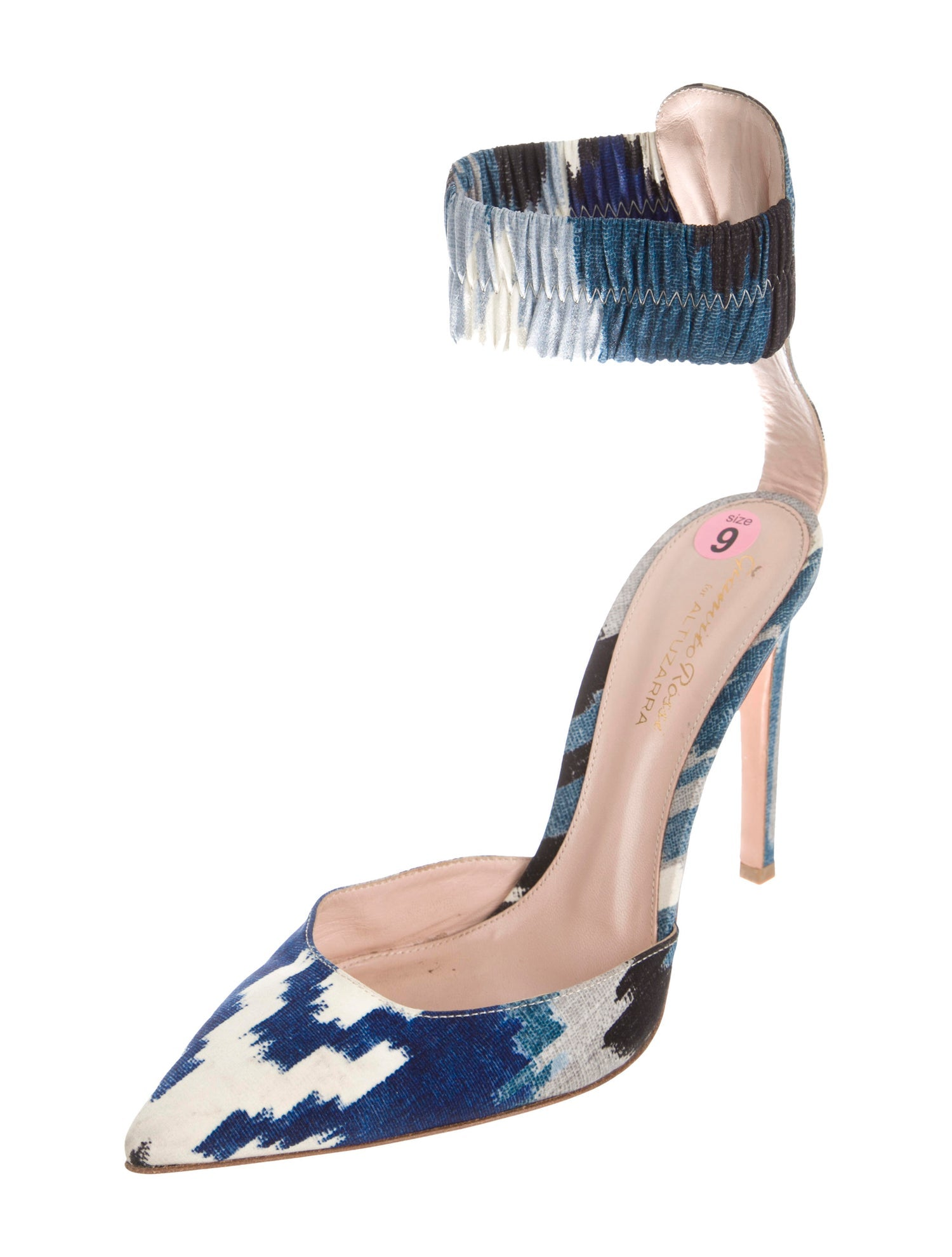 GIANVITO ROSSI FOR ALTUZARRA Printed Pointed-Toe Pumps - 39