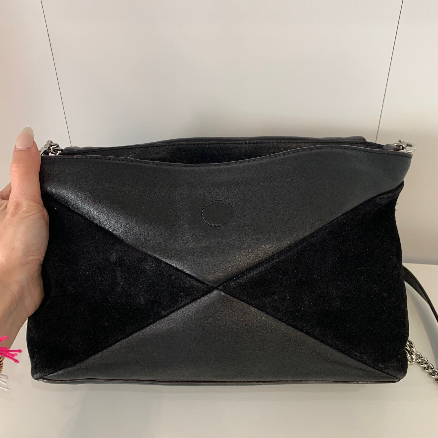 Marc By Marc Jacobs Black Leather & Suede Bag