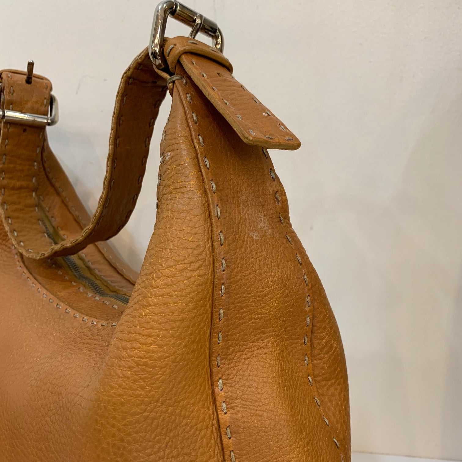 Fendi Selleria Brown Leather Shoulder Bag