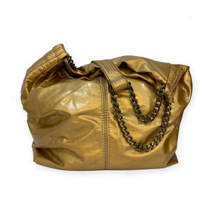 Carolina Herrera Gold Vinyl Bag