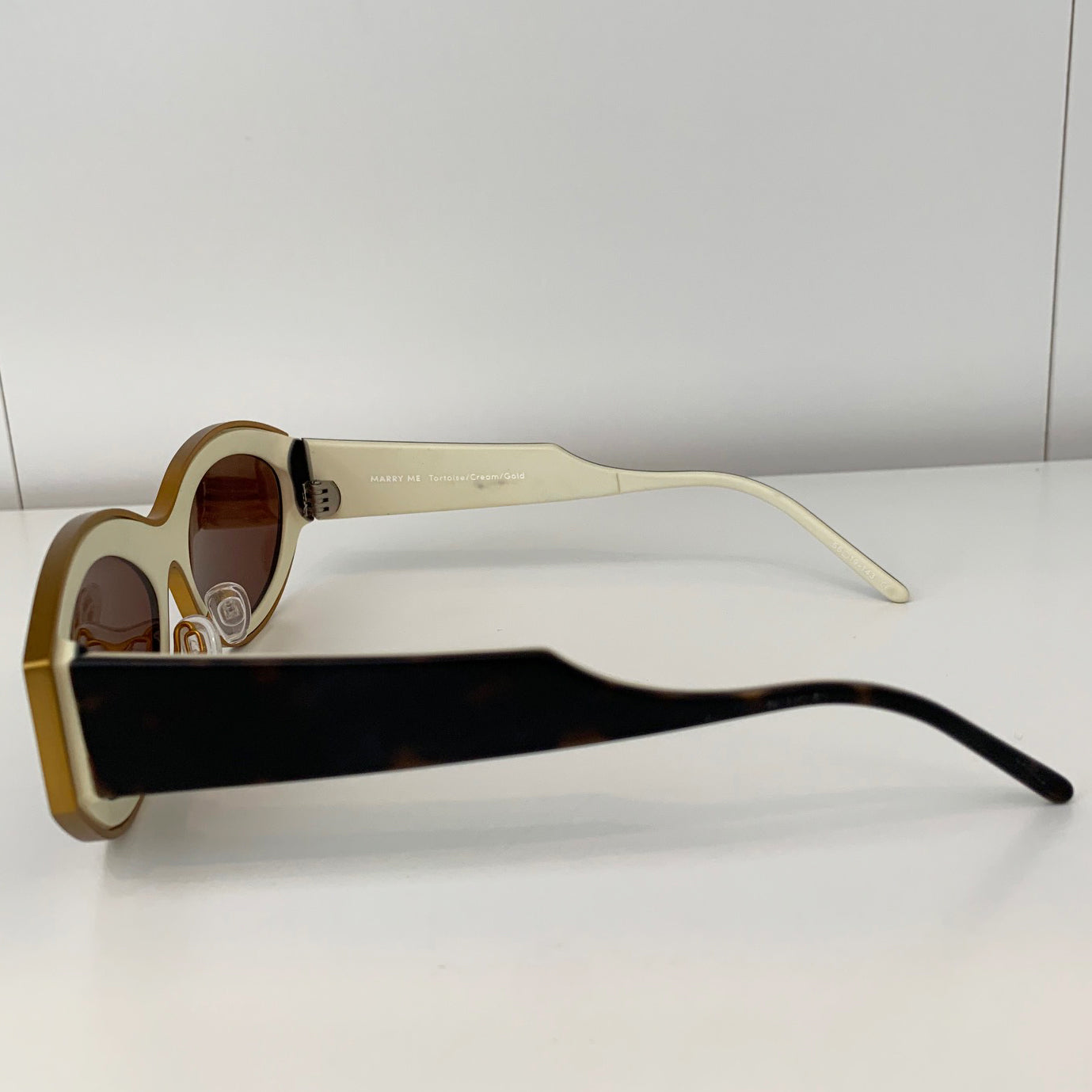 Kaibosh Gold/Cream/Brown Sunglasses