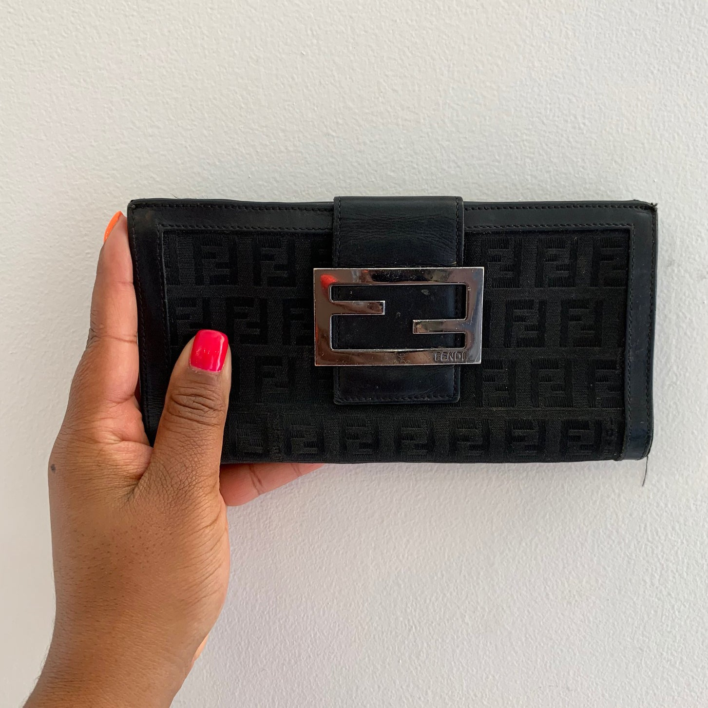 Fendi Black Vintage Wallet