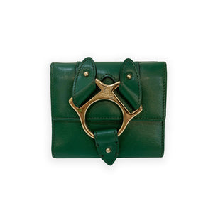 Vivienne Westwood Green Leather Wallet