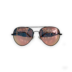 Linda Farrow Pink Mirror Lens Aviator Sunglasses