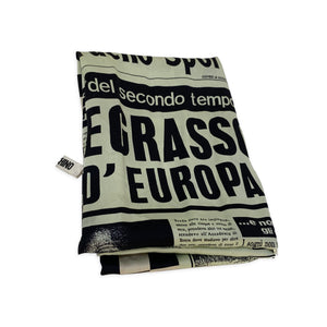 Moschino Newspaper Silk Scarf