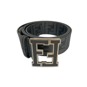 Fendi Logo Belt with Monogram Buckle