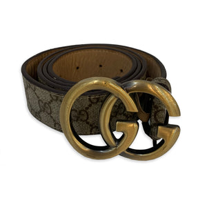 Gucci Monogram Logo Buckle Unisex Belt