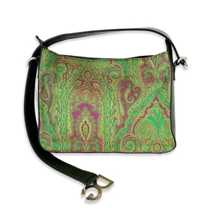 D&G Vintage Green Paisley Canvas Shoulder Bag