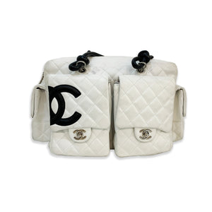 Chanel White 2000's CC Quilted Bag
