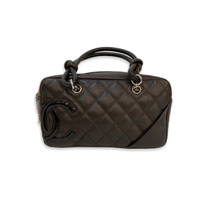 Chanel Bowler Cambon Ligne Quilted Mini Dark Brown