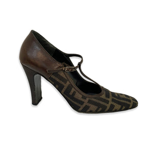 Fendi Monogram Mary-Jane Heels - 7