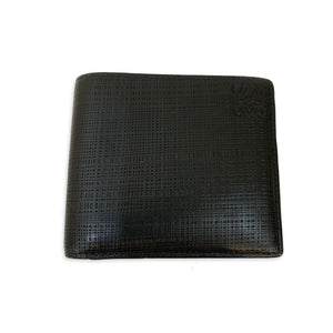 LOEWE Bi-fold Black leather wallet