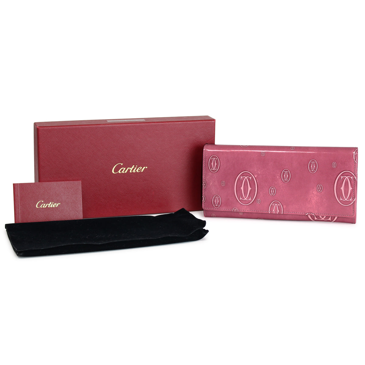 Cartier Pink Happy Birthday Long Wallet