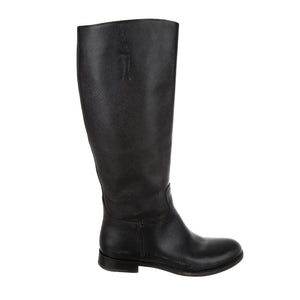 PRADA Coated Canvas Knee-High Boots - 39