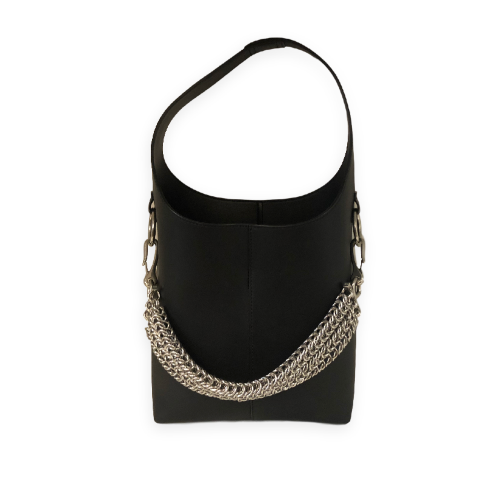 Alexander Wang Bucket Bag Black W/ Silver chain