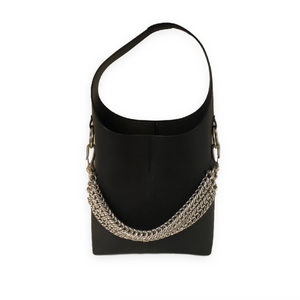 Alexander Wang 'Genesis' Black Bucket Bag w/ Silver Chain