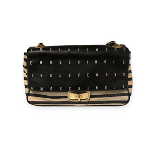 Love Moschino Black/Cream Cross Body Bag