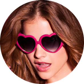 Lolita Heart shaped Sunglasses