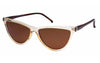 Elyria Retro 90's Ladies Slim Frame Cat Eye Sunglasses - Sunglassinn
