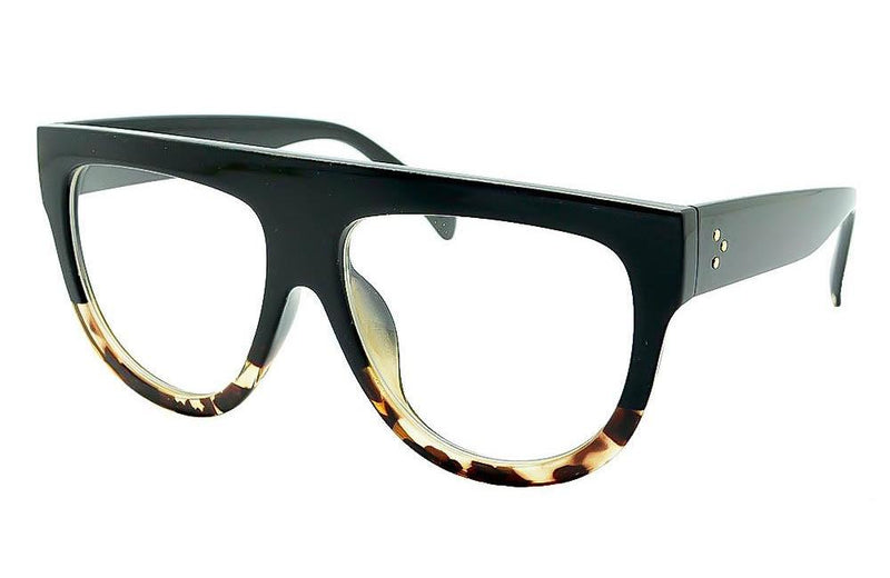 oversized designer eyeglasses 1f74  Oversized Designer Ladies Teardrop Clear Lens GLASSES
