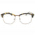 Classic 1980's Quality Horned Rim Clear Lens Semi Frame Glasses - Sunglassinn